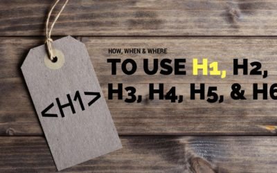 How and When to Use the H1 Tag on Your WordPress Website